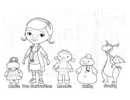 Mcstuffins Coloring Sheets Free Online Doc Pages Printable And Page