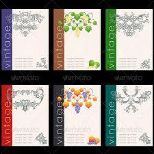 Wine Label Design Wine Labels Design Template Set