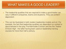 leadership qualities <br > 16