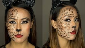 last minute halloween makeup tutorial leopard makeup easy halloween makeup rs beauty