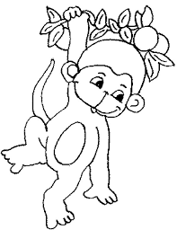 Small Picture cute baby monkey hanging on tree coloring page for kids cute baby