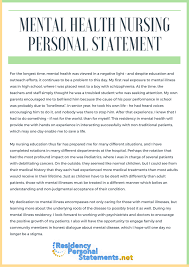 A great nursing personal statement example for nursing school personal  statement application Graduate School Personal Statement