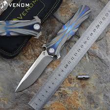 <b>Складной нож VENOM</b> Kevin John <b>T</b> series M390 из стали ...
