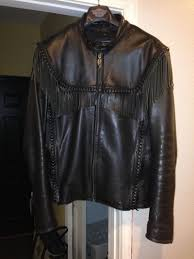 harley willie g leather jacket 44m