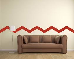 chevron stripe obtuse angle wall decal