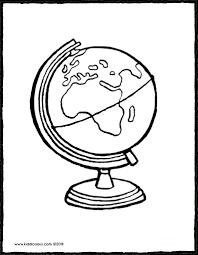 Wereldbol Kiddicolour Pertaining To Kleurplaat Wereldbol Beste