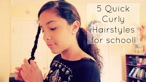 Toddler Curly Hairstyles 5 Quick Curly Hairstyles For School Youtube