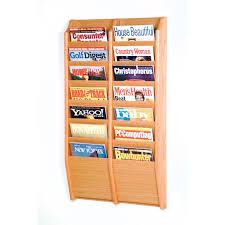 Fabric Magazine Holder Decoration White Wooden Magazine Rack Two Tier Magazine Rack 77