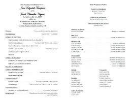 Catholic Church Wedding Program Template Free Printable Church
