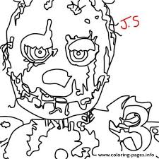 Print Five Nights At Freddys Fnaf Golden Freddy Coloring Pages Hoa