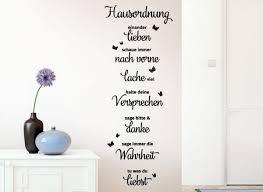 Wandtattoo Hausordnung Lachen Liebe Danke G169 Sprüche Zitate