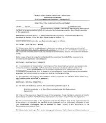 Subcontractor Agreement Format Need A Subcontractor Agreement 39 Free Templates Here