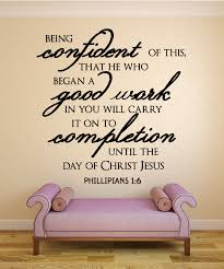 Christian Confidence Quotes Best Of Phillipians 2424 Being ConfidentChristian Wall Decal Quotes