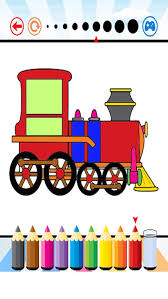 This app offers trains coloring pages featuring traveling train characters. Train Coloring Book Activities For Kid By Thanin Setrin