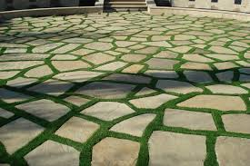 patio stones with grass in between. Delighful Stones Synthetic GrassGridsPaversStepping Stones Mediterraneanlandscape For Patio With Grass In Between G