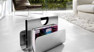 Living Room Magazine Holder Simple WACTOR STAINLESS STEEL MAGAZINE RACK BY BLOMUS Jebiga Design