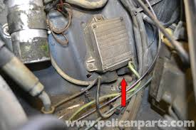 mercedes benz w126 distributor replacement 1981 1991 s class remove the wire from the distributor and follow it ignition control box on the inner left