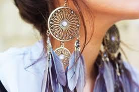 Dream Catcher Earing Jewels earrings feathers large earrings gold flower shape 26