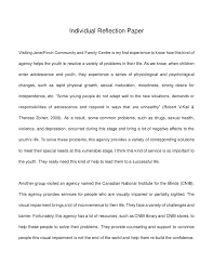 individual reflection essay examples from reflection essays school of undergraduate studies