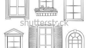 window designs drawing. Delighful Designs Stock Images Similar To Id 21660322 Five Window For Designs Drawing