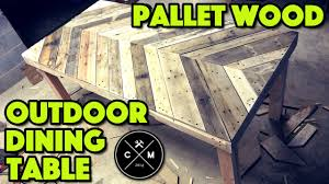 how to build an outdoor dining table from pallet wood diy crafted work you