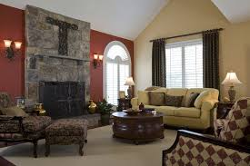 Painting Accent Walls In Living Room Snazzy Stones Living Room Accent Wall With Red And Beige Wall