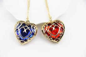 zrm fashion jewelry legend of zelda necklace blue red