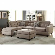 Esofastore Modern Sleek Reversible Chaise w Storage Tufted Sofa ...