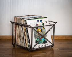 ... 12 Vinyl LP record storage metal crate with two handles