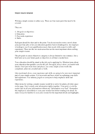 Simple Job Resumes Free Resume Example And Writing Download