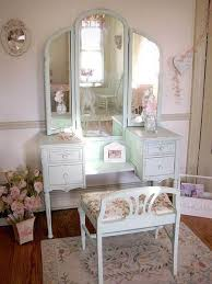 Vanity Table And Chair Set Simple White Antique Vanity Table Design With Reclining Stool And