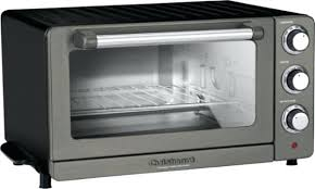 cuisinart oven convection toaster pizza black stainless angle countertop