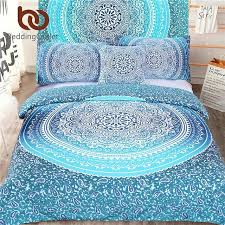 boho bedding full bed in a bag bedding set blue twin full queen king bohemian bedding