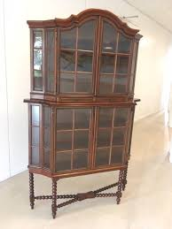 double display cabinet with two drawers four glass doors with rod distribution