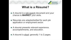 Resumes And Cover Letters Youtube