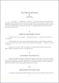 Easy Last Will And Testament Free Template Elegant Document