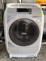 Máy giặt HITACHI BD-VJB1L giặt 9kg sấy 6kg, đời 2011 , màu kem, hình thức  còn đẹp leng keng - chodocu.com