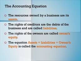 1 the accounting equation