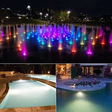 Floating Pool Fountain With Lights Us 9 9 30 Off 10w Rgb Underwater Led Pond Light Waterproof Ac 12v Spotlight Bulb Swimming Pool Fountain Garden Fishing Tank Piscina Lamp In Led