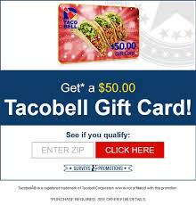 taco bell 50 gift card senior mania