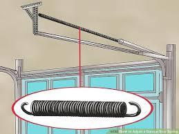 image titled adjust a garage door spring step 1