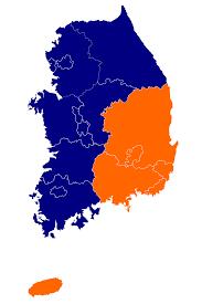 South Korea Religion Map