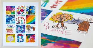 display kids art on a poster