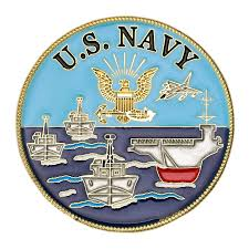U.S. Navy Logo Ships Challenge Coin - Navy SEAL Museum SHIP Store