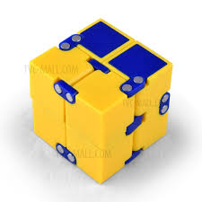 infinity cube 3. double colors infinity cube mini fidget magic hand toy for stress relief - yellow 3 i