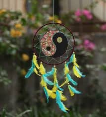 Images Of Dream Catchers Fascinating Buy Rooh Dream Catchers Multicolour Wool Yin Yang Dream Catcher