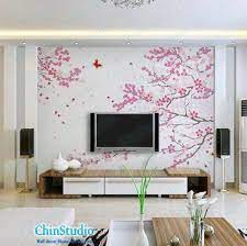 romantic cherry blossom wall decal by