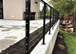 modern cable fence. Perfect Fence Metal Railings With Modern Cable Fence D