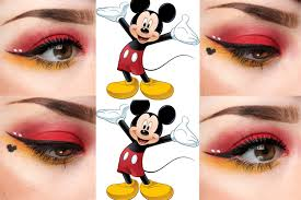 mickey mouse inspired eye makeup