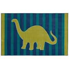 mohawk home friendly dinosaur blue 5 ft x 8 ft area rug